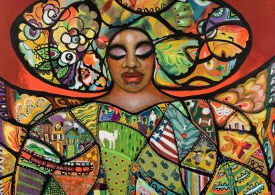 """""""Garner Quilt Queen"""" by Wendy Dickerson"""